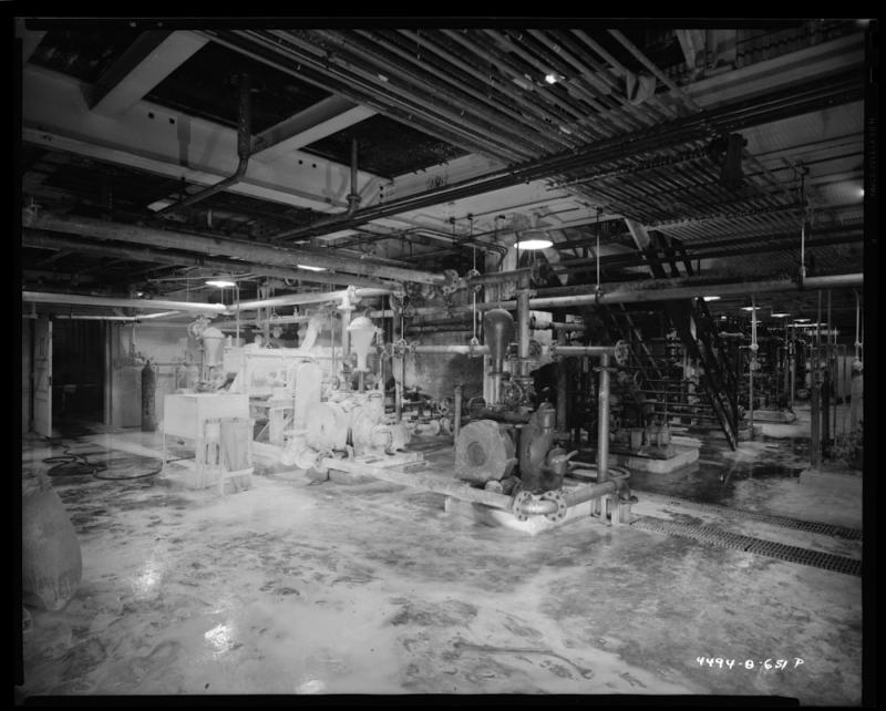 Inside the Goodyear Chemical Factory prior to 1951.
