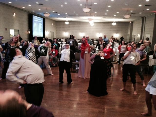 Therapist Pual Boyle runs a session for healthcare providers at the 2014 North American Refugee Health Conference