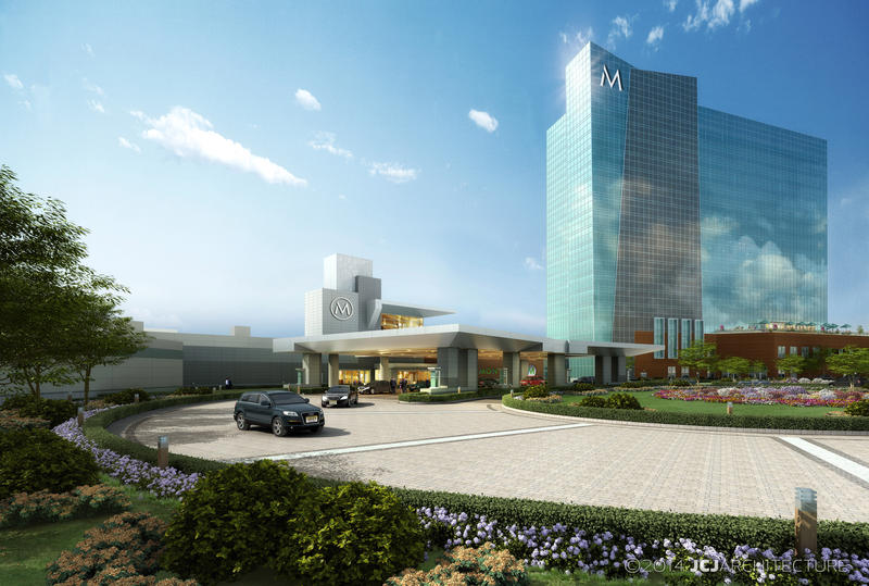 computer rendering of Montreign resort and casino main building by day