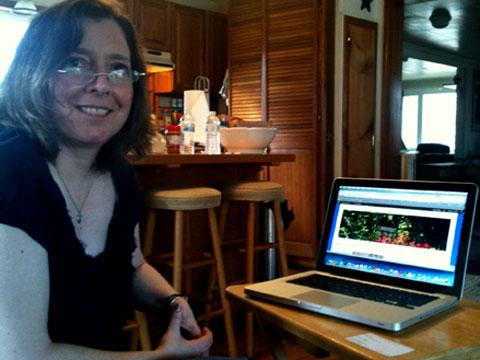 Claire Perez blogs about her pursuit of a broadband connection at her West Dryden home. The blog is called itsaboutthestory.wordpress.com.