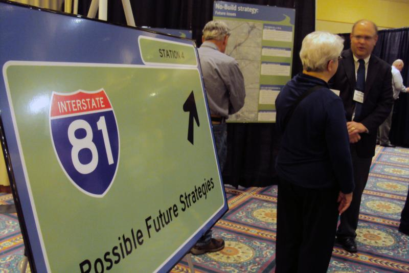 The I-81 Challenge held its second public meeting Wednesday. Planning officials want the public to help determine the future of Interstate 81 in Syracuse.