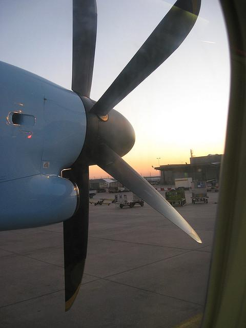 Imagine looking out your airplane window and seeing gas drilling near the tarmac.