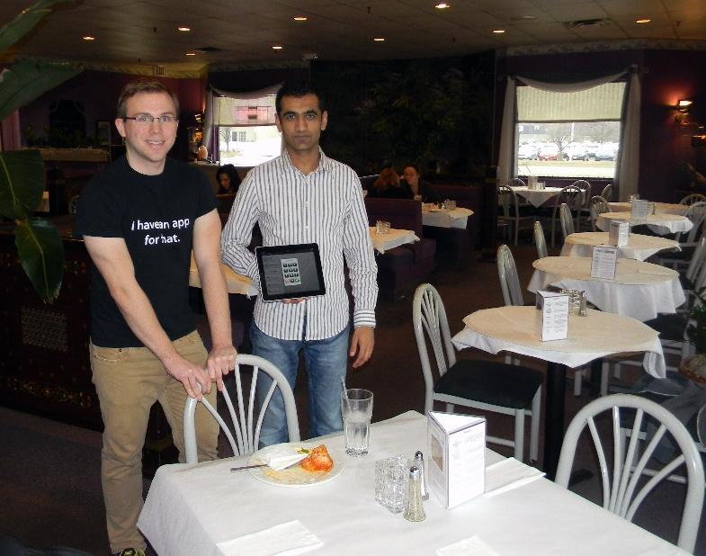 Former waiters James O'Leary and Ansar Khan designed Ambur, an app for restaurants. It's available on the App Store for $999.