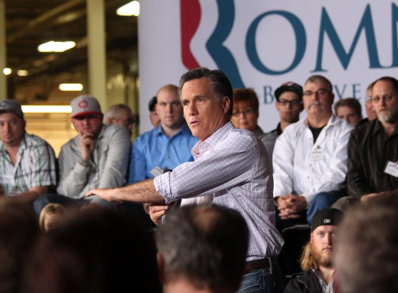 Mitt Romney at a recent campaign event in Ohio.