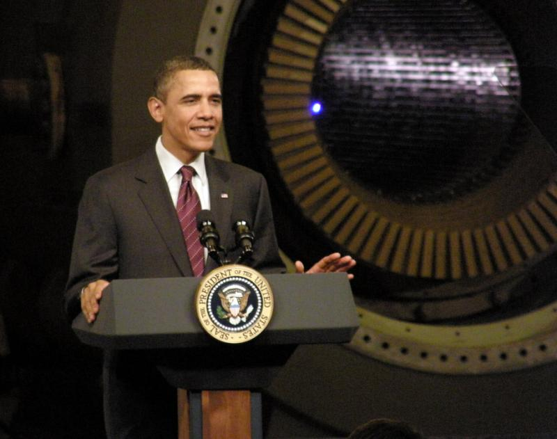 President Obama spoke at GE headquarters in Jan. 2011.