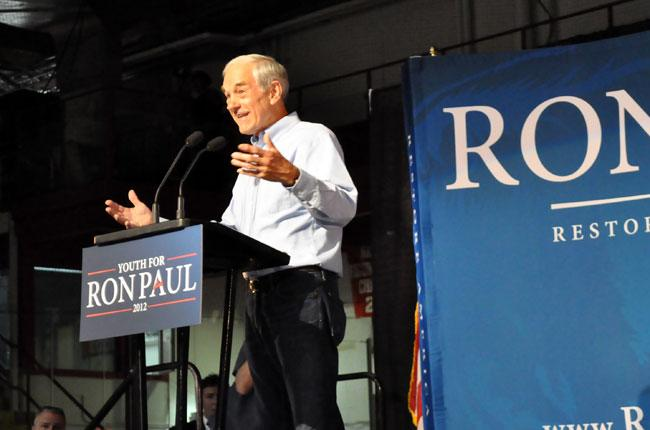 Congressman Ron Paul's speech at Cornell drew thousands of enthusiastic supporters.