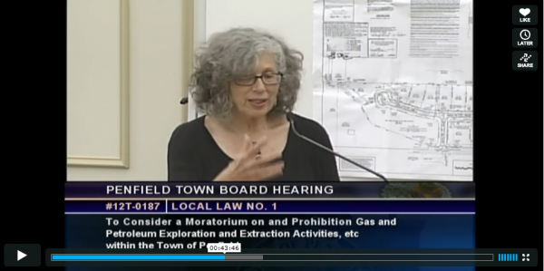 A speaker at the Penfield Town Board Hearing on Sept. 5th
