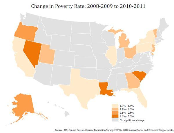 Poverty rates across upstate NY increased in 2011 according to data collected by the U.S. Census Bureau