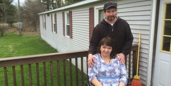 Dale and Cindy Berberick outside their home.
