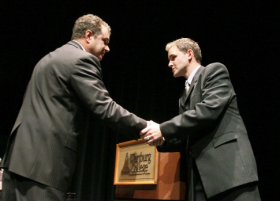 Democrat Bruce Braley and Republican Ben Lange meet for a 2010 debate at Waverly's Wartburg College.  The two face a rematch in a race for a newly re-drawn First District.