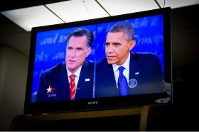 2012 presidential debate on TV