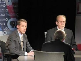 Republican challenger John Archer and Democratic incumbent Dave Loebsack at an IPTV debate in Newton