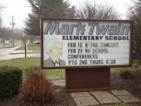 Mark Twain Elementary of the Southeast side of Iowa City. Seventy nine percent of students qualify for free and reduced lunch, at other schools the number is as low as six.