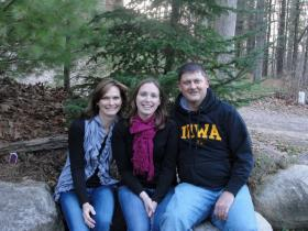 Melody Eckstein (left) is currently undergoing a bone marrow transplant at UI Hospitals and Clinics in Iowa City.