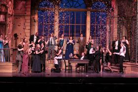 Scene from the University of Northern Iowa Opera Theatre's 2011 performance of Die Fledermaus
