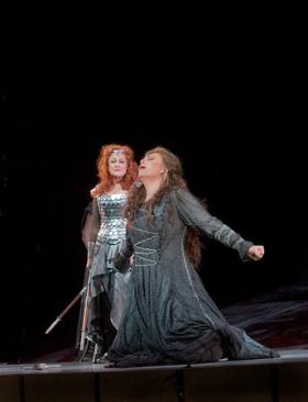 Deborah Voigt as Brünnhilde and Martina Serafin as Sieglinde