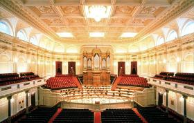 "Inside the Royal Concertgebouw (""concert building"") in Amsterdam, home of the orchestra voted the world's best by an international jury in 2010."