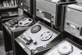 Brand new Ampex reel-to-reel audio tape machines were state-of-the-art in the 1960s.