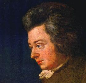 Mozart, in an unfinished 1782 painting by his brother-in-law.