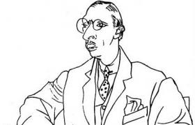 Igor Stravinsky, sketched by his friend and collaborator Pablo Picasso