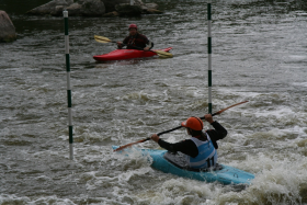 "Kayakers and others will  ""take the challenge"" on the course this weekend in Charles City"