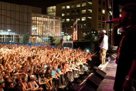Wu Tang Clan played on Saturday Night at the 80/35 Music Festival in downtown Des Moines