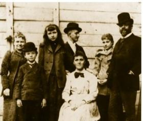 Dvorak and his family in New York City, 1893