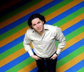 Gustavo Dudamel, the young Venezuelan music director of the Los Angeles Philharmonic