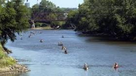 Paddlers travel one of Iowa's many rivers