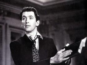 "Jimmy Stewart in the iconic ""Mr. Smith Goes to Washington"""