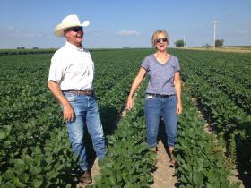 Farmers Rick Hammond and Abbi Harrington. Rick is married to Abbi's sister, Heidi. The family is fighting the Keystone XL.