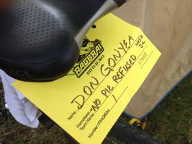 Don Gonyea's bicycle seat.