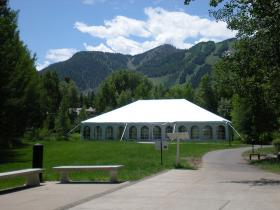 The Aspen Music Tent (and the Aspen scenery)