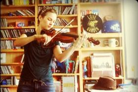 American violin genius Hilary Hahn during a recent visit to NPR's studios