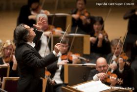 Chicago Symphony Orchestra music director Riccardo Muti conducting