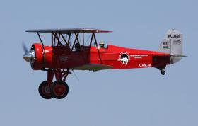A Stearman trainer that was common over the skies of southeast Iowa from 1943 to 45.