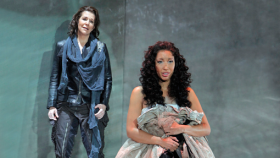 """Joyce DiDonato and Nicole Cabell in the San Francisco Opera's production of """"The Montagues and the Capulets"""""""