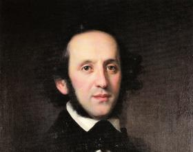 Felix Mendelssohn, as painted in 1846 (a year after he wrote the String Quintet no. 2)