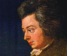 Mozart at age 26, in an unfinished portrait by Joseph Lange.