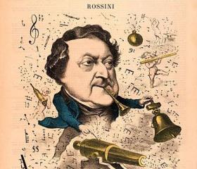 An 1867 caricature of Gioachino Rossini
