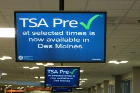 The Transportation Security Administration is speeding some passengers through the checkpoint at Des Moines International Airport