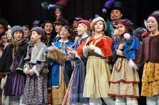 The children's chorus from the Cedar Rapids Opera Theatre's production of Puccini's La Boheme.