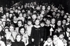 Jewish children in the Terezin concentration camp