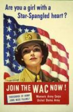 An old recruiting poster for the WACs
