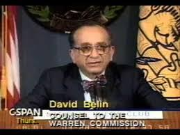 David Belin shown testifying in a still-frame from You Tube.