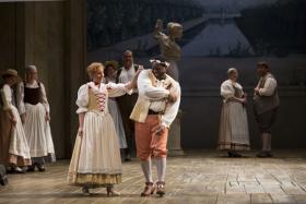Malin Christensson (Zerlina), Michael Sumuel (Masetto) from the Houston Grand Opera's Don Giovanni