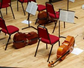 Three cellos, Butterworth Hall.