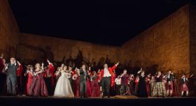 """Everyone plays the fool, and he who laughs last laughs best"" - the final chorus of Verdi's Falstaff from the Met's new production"