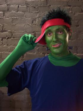 Brian Kuhl, tenor, as Melvin Frankenstein.