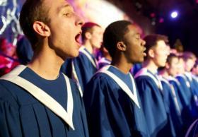 The St. Olaf Viking Chorus at the St. Olaf Christmas Concert